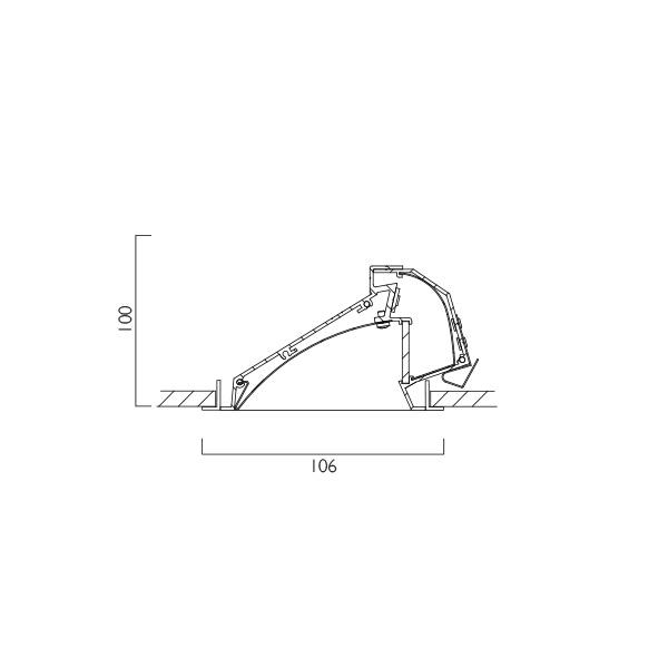 Wallwasher LED Line Drawing